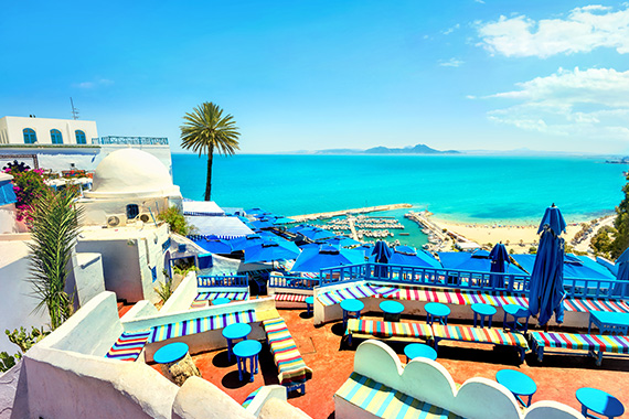 La baie de Tunis depuis Sidi Bou Saïd